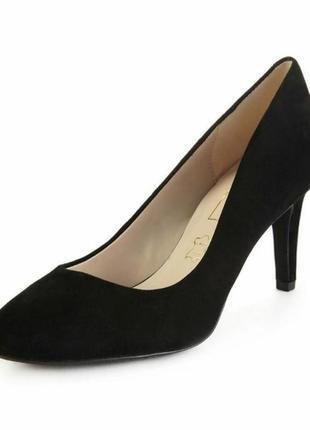 Черные женские замшевые туфли лодочки tu