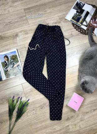 Zara крутые брюки штаны в горох paper bag,с красивой сборкой на талии 😍