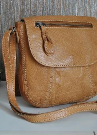 Кожаная сумка кроссбоди fat face / шкіряна сумка