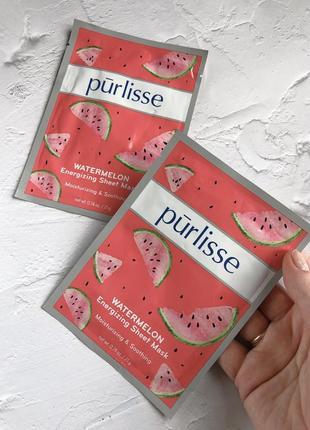Sale 🔥 purlisse - увлажняющая маска с арбузом