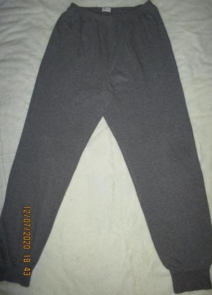 Серые тонкие спортивные штаны