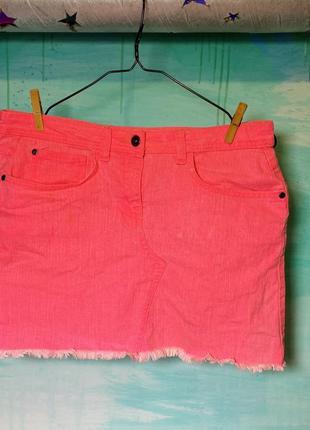 Юбка джинсовая розовая cherokee