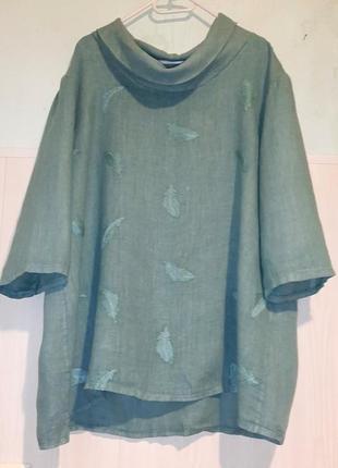 Интересная льняная блуза лен льон