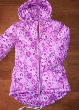 Куртка для девочки, на флисе, осенняя, демисезон