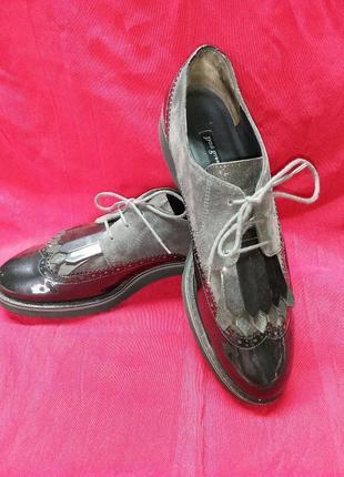 Туфли лаковые броги paul green