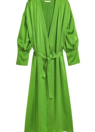 Шёлковое платье халат h&m