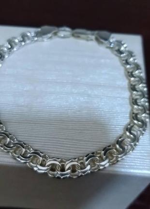 Срібний чоловічий браслет (серебро, срібло)925 проба.