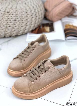 Кроссовки криперы на шнурках