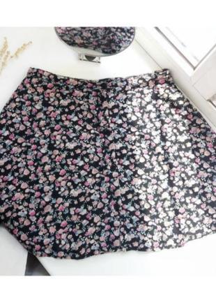 Юбочка в цветочный принт, юбка