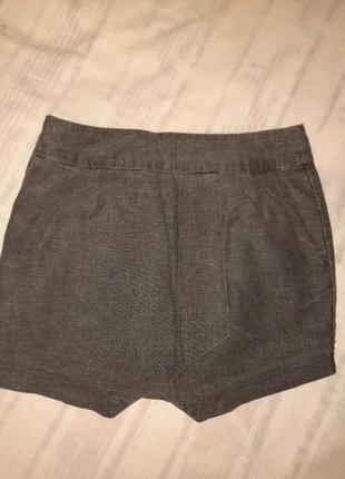 Асиметричная мини юбка из льна