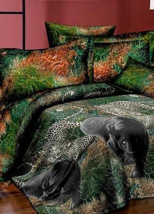 Пантера, ранфорс, постельное белье