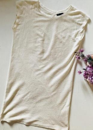 Платье футболка свободного кроя рубчик хлопок s m