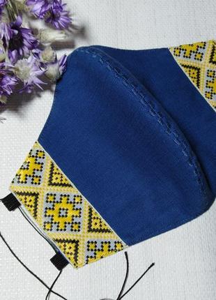Маска защитная многоразовая не медицинская с вышивкой