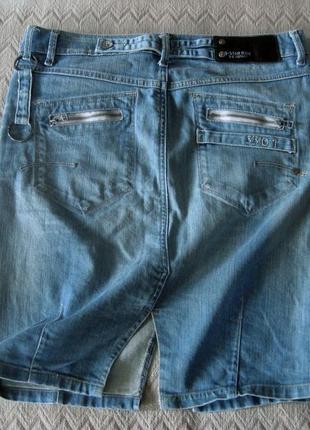 Юбка g-star raw джинсовая миди
