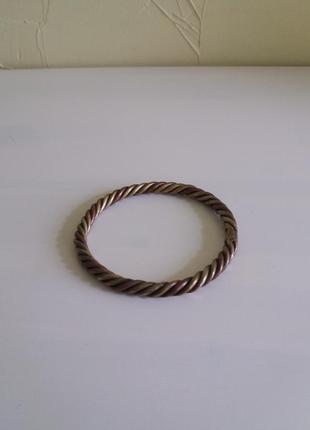 Медный браслет диаметром 7см