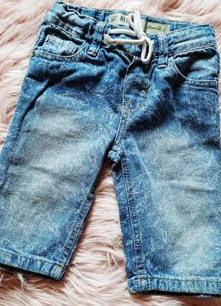 Шорты в акулы джинсовые для мальчика