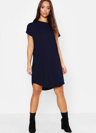 Boohoo. товар из англии. платье футболка с каскадным подолом.