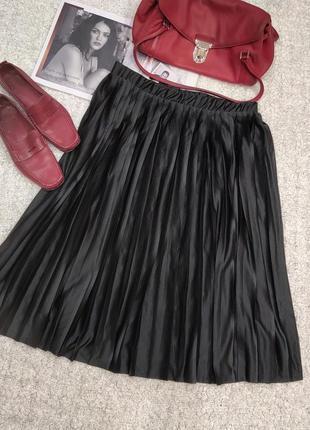 Плиссированная юбка гофре,миди,плиссе.