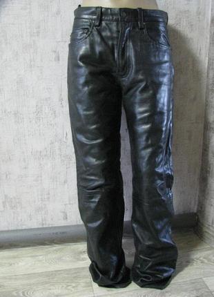 Штаны кожаные 46-48 размер 31 пакистан