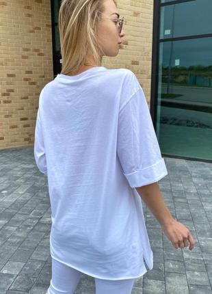 Длинная футболка женская stay chic