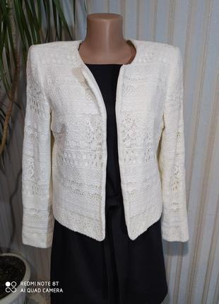 Шикарный нарядныц пиджак жакет кружево от h&m