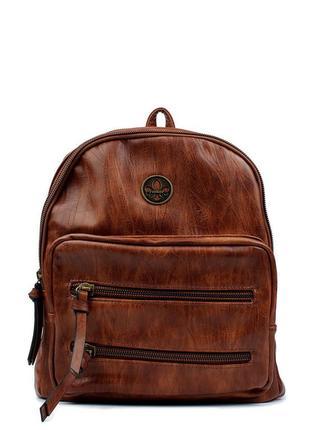 Кожаный рюкзак rieker сумка