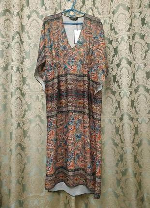 Платье zara с v- образным вырезом