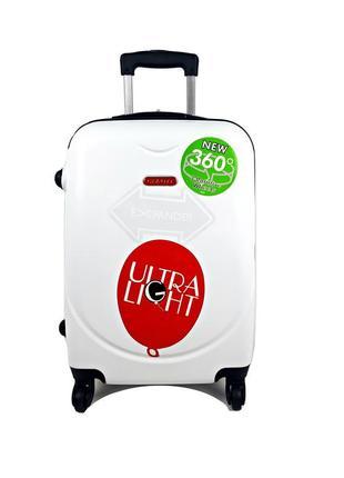 Маленький чемодан на колесах gravitt, белый