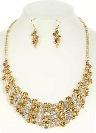 Колье и серьги набор украшений ожерелье