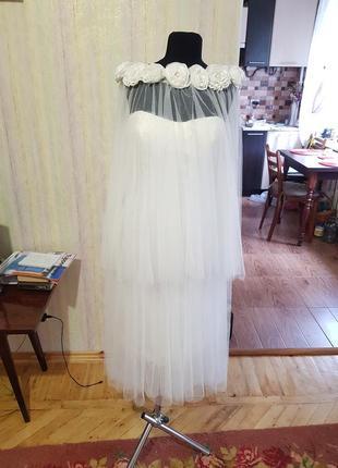 Короткое свадебное платье,выпускное, вечернее