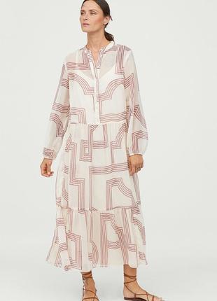Шикарное шифоновое длинное платье 👗 h&m 42