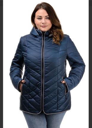 Куртка женская батал, очень красивая, демисезонная