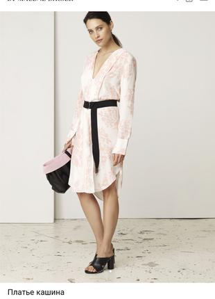 By malene birger/нежное и красивое платье рубаха прямой крой 100% вискоза