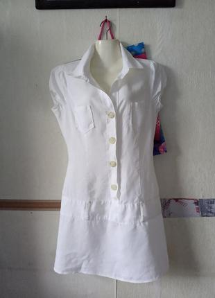 Натуральное платье 💯 лен с заниженной талией