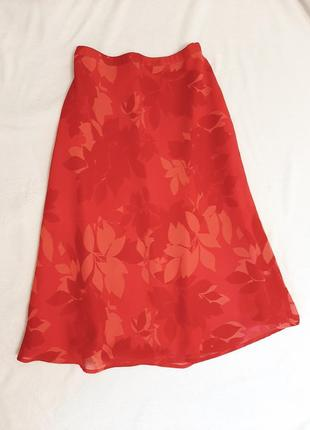 Шифоновая легкая нарядная юбка h&m