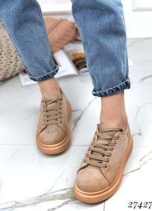 Кроссовки криперы на шнурках .