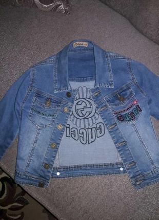 Джинсовый пиджак от gucci