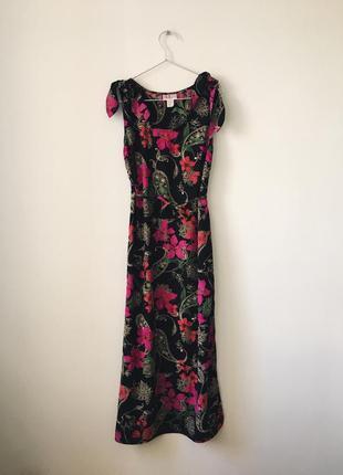 Платье макси с дивным цветочным принтом r&k originals длинный черный сарафан с цветами