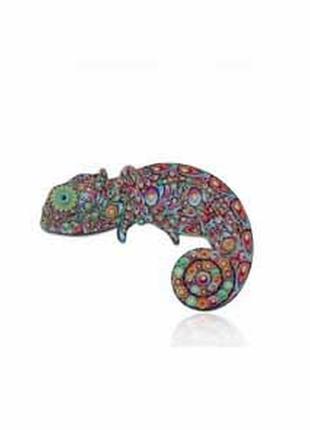 Крутой акриловый пин брошь брошка значек значок ящерица хамелеон