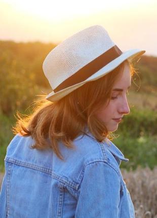 Капелюх капелюшок шляпа пляжна на літо