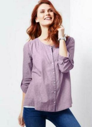 Лавандовая блуза-сорочка из органического хлопка, tchibo(германия)