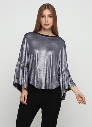 Серебряная однотонная блузка uterque