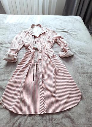 Платье рубашка на пуговицах, размер оверсайс , длинный рукав, длина миди