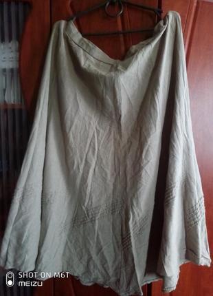 Натуральная летняя юбка батал