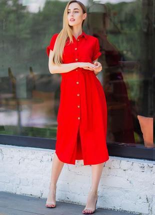 Платье-рубашка 42-50 р.