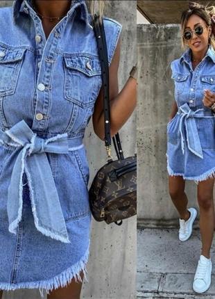 Джинсовый сарафан ,платье, размер л, стамбул, люкс качество 💖. скидки 💥