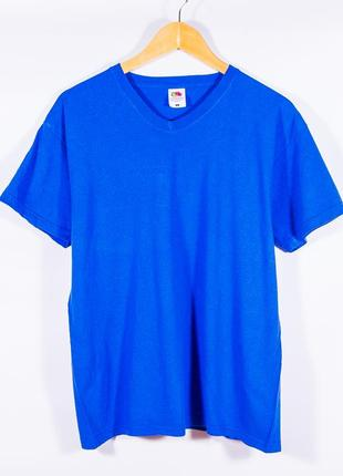 Оверсайз футболка синяя