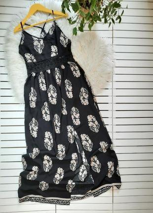 Длинный сарафан макси платье shein p. xs-s