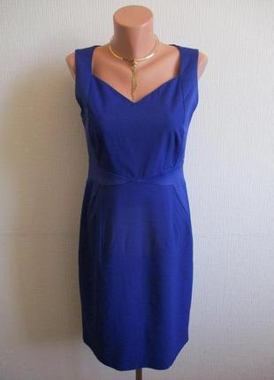 Платье-футляр с атласными вставками kaliko