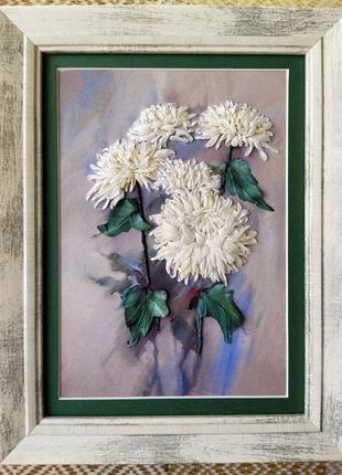 Картина хризантема